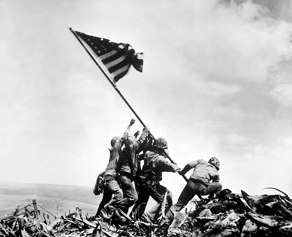 On Feb. 19, 1945, 30,000 Marines and sailors launched the first American assault against the Japanese on the island of Iwo Jima, resulting in some of the fiercest fighting of World War II. This moment of the battle was captured Feb. 23 by photographer Joe Rosenthal and made it one of the most distinguished battles of the war.  More than 6,800 Americans perished in the 36-day fight 65 years ago.