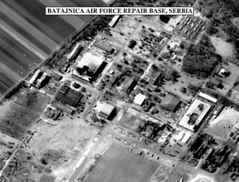 Bomb damage assessment photo of the Batajnica Air Force Repair ...