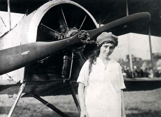 FILE PHOTO -- Katherine Stinson became one of the top pilots of her day and set many aviation firsts. (Photo courtesy of the University of New Mexico)