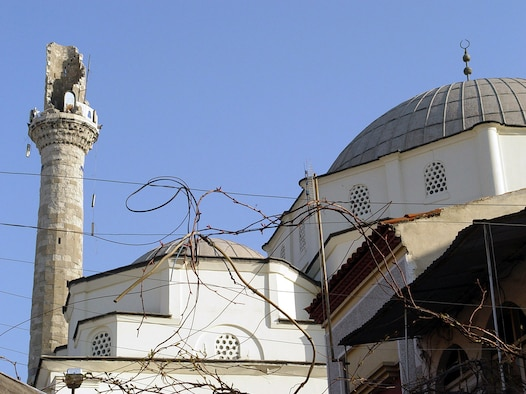 HISAR, Turkey -- The top of the Hisar Mosque tumbled to the ground during an earthquake 35 miles southwest of Izmir, Turkey.  Although the quake rattled a few windows and rearranged some furniture, there were no people injured or damage to facilities, according to 425th Air Base Squadron officials.  (Courtesy photo)