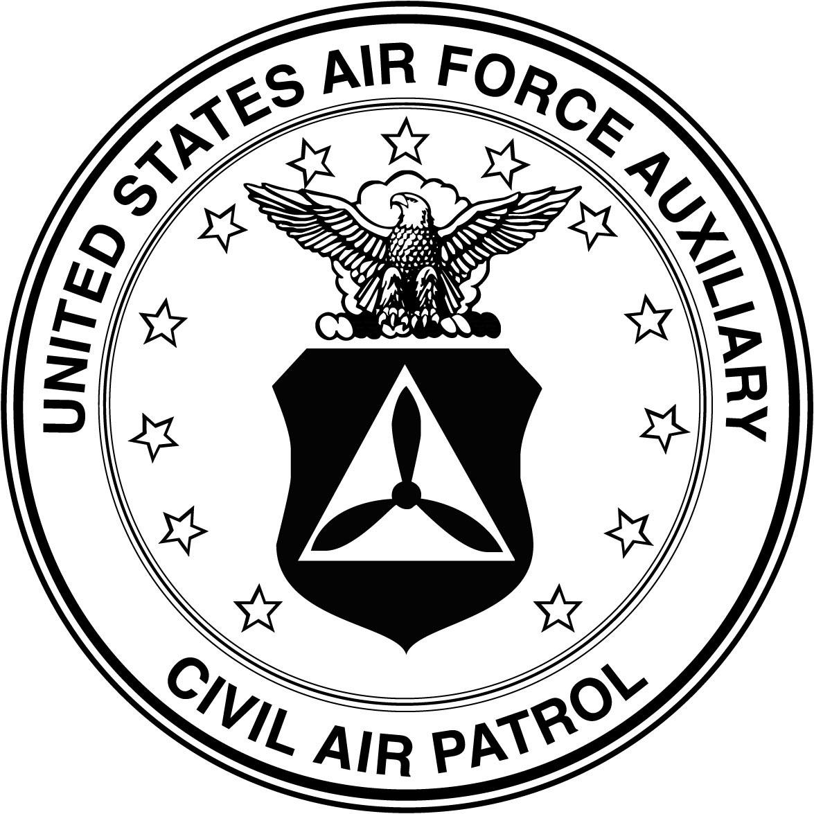 ffda6a40b2a United States Air Force Auxiliary Civil Air Patrol seal (b w)