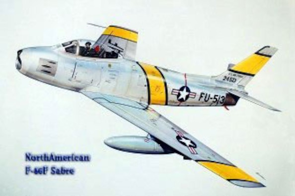 F-86 Sabre (color), Illustration by Bob Engle