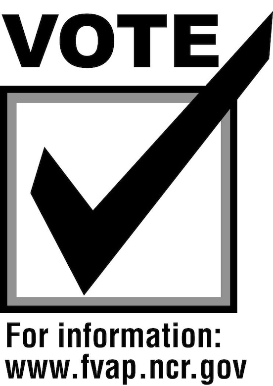 Election Day, vote (b/w), U.S. Air Force graphic