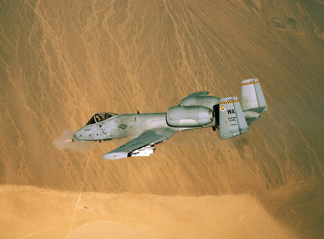 1990's -- The A-10 Thunderbolt II is the first Air Force aircraft specially designed for close air support of ground forces. They are simple, effective and survivable twin-engine jet aircraft that can be used against all ground targets, including tanks and other armored vehicles. (U.S. Air Force photo by Staff Sgt. Steve Thurow)