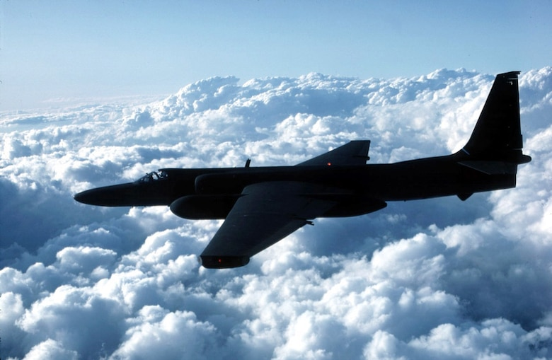 FILE PHOTO -- The U-2 provides continuous day or night, high-altitude, all-weather, stand-off surveillance of an area in direct support of U.S. and allied ground and air forces. It provides critical intelligence to decision makers through all phases of conflict, including peacetime indications and warnings, crises, low-intensity conflict and large-scale hostilities.The U-2 is a single-seat, single-engine, high-altitude, reconnaissance aircraft. Long, wide, straight wings give the U-2 glider-like characteristics. It can carry a variety of sensors and cameras, is an extremely reliable reconnaissance aircraft, and enjoys a high mission completion rate. Because of its high altitude mission, the pilot must wear a full pressure suit. The U-2 is capable of collecting multi-sensor photo, electro-optic, infrared and radar imagery, as well as performing other types of reconnaissance functions. (Air Force photo)