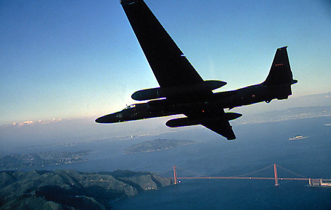 FILE PHOTO -- The U-2 is a single-seat, single-engine, high-altitude, reconnaissance aircraft. Long, wide, straight wings give the U-2 glider-like characteristics. It can carry a variety of sensors and cameras, is an extremely reliable reconnaissance aircraft, and enjoys a high mission completion rate. Because of its high altitude mission, the pilot must wear a full pressure suit. The U-2 is capable of collecting multi-sensor photo, electro-optic, infrared and radar imagery, as well as performing other types of reconnaissance functions. However, the aircraft can be a difficult aircraft to fly due to its unusual landing characteristics. (Air Force photo)