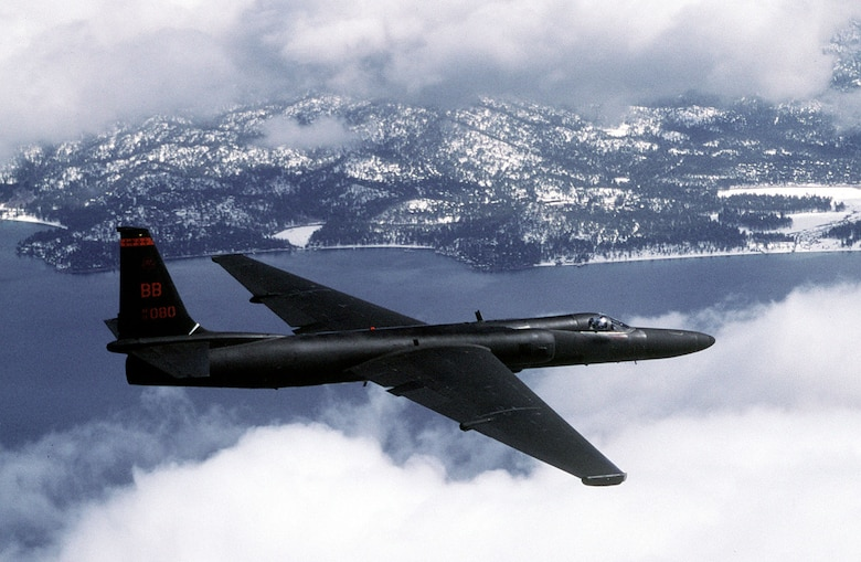 FILE PHOTO -- An Air Force U-2 Dragon Lady flies a training mission. (U.S. Air Force photo by Master Sgt. Rose Reynolds)