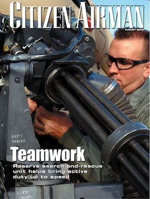 ROBINS AIR FORCE BASE, Ga. -- The August issue of Citizen Airman magazine is now available.  (Courtesy art)
