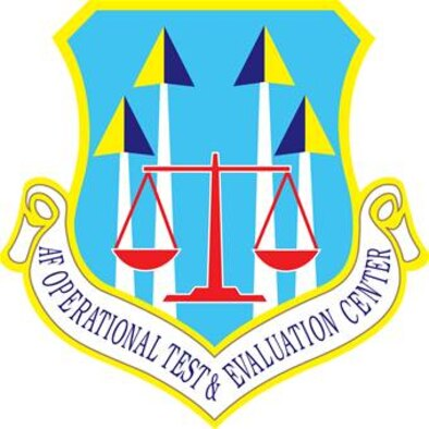 Air Force Operational Test and Evaluation Center shield (clr), U.S. Air Force graphic.  In accordance with Chapter 3 of AFI 84-105, commercial reproduction of this emblem is NOT permitted without the permission of the proponent organizational/unit commander.