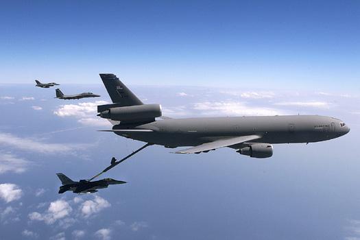 US Air Force KC-10 Extender pilots connect to KC-135 Stratotanker Photo Print