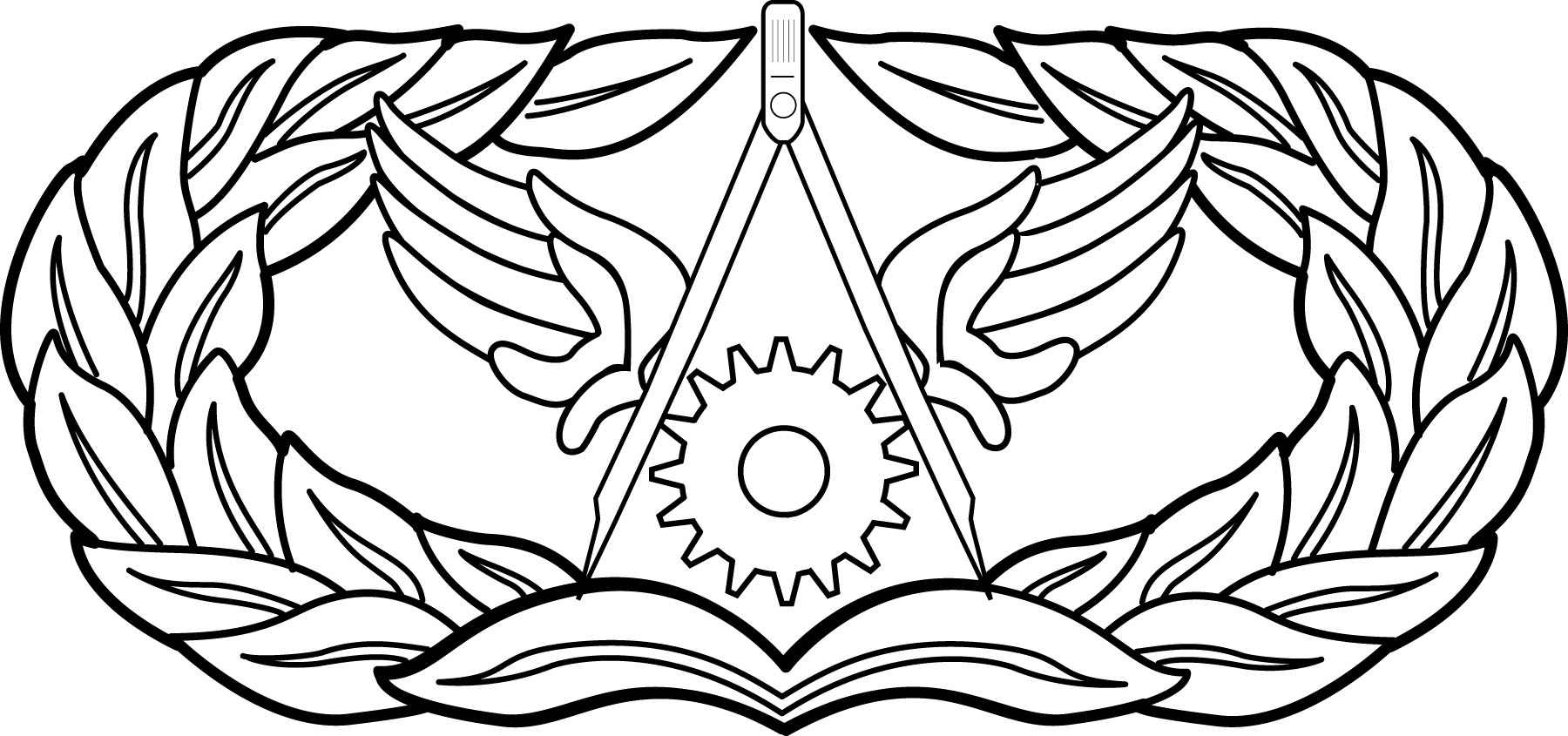 air force insignia coloring pages - photo#9