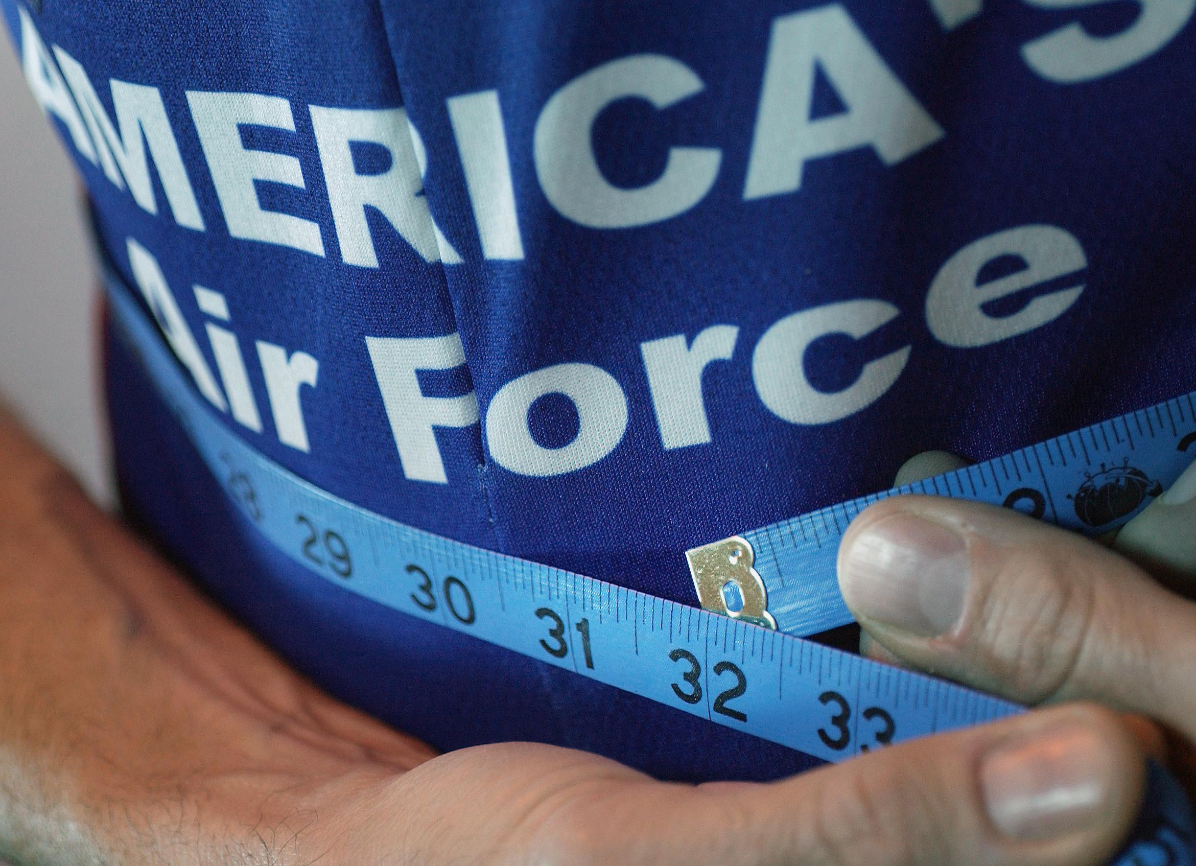 Tape Measurement Chart: Waist size reflects whole health e U.S. Air Force e Article Display,Chart