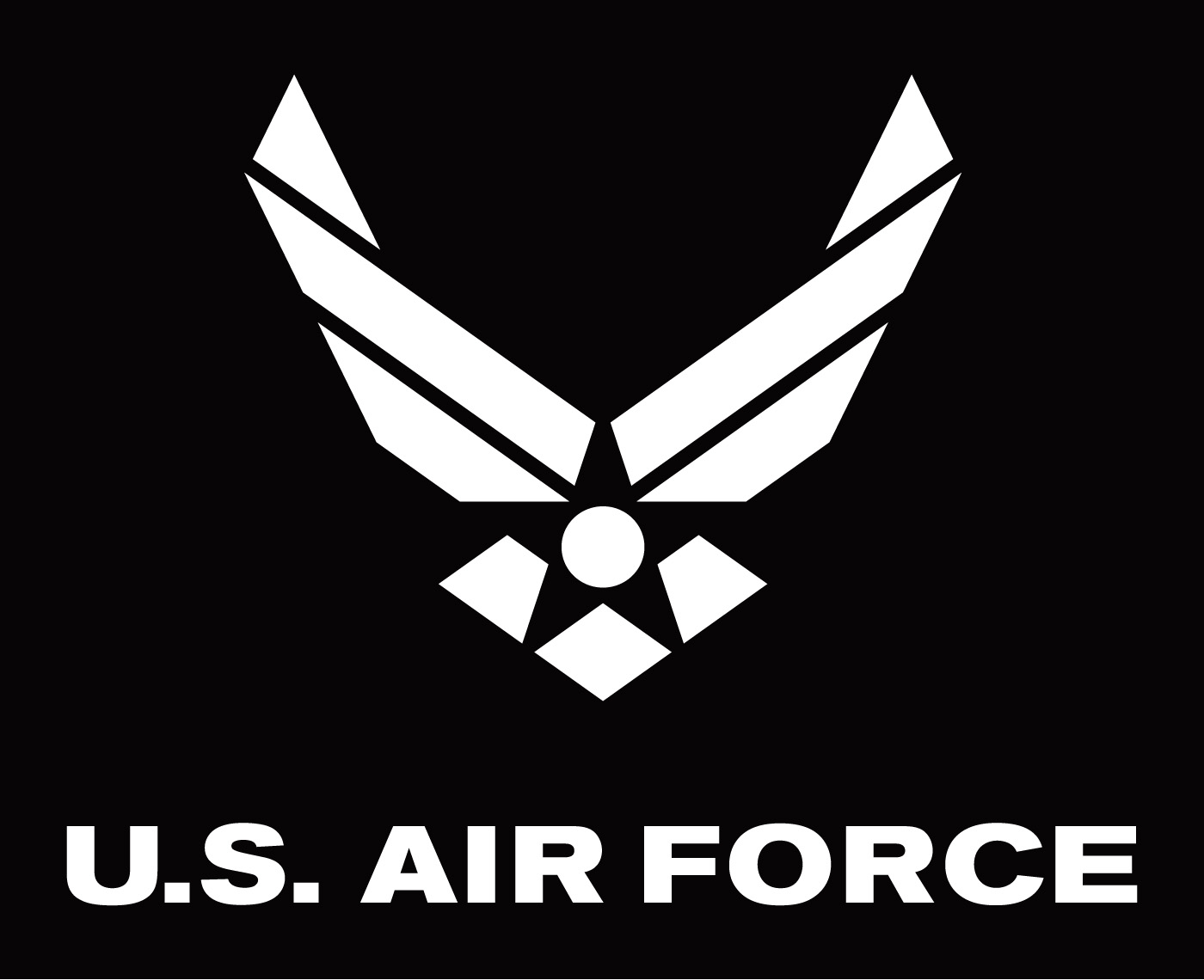 Art air force symbol with logotype white on black background the air force symbol is buycottarizona Images