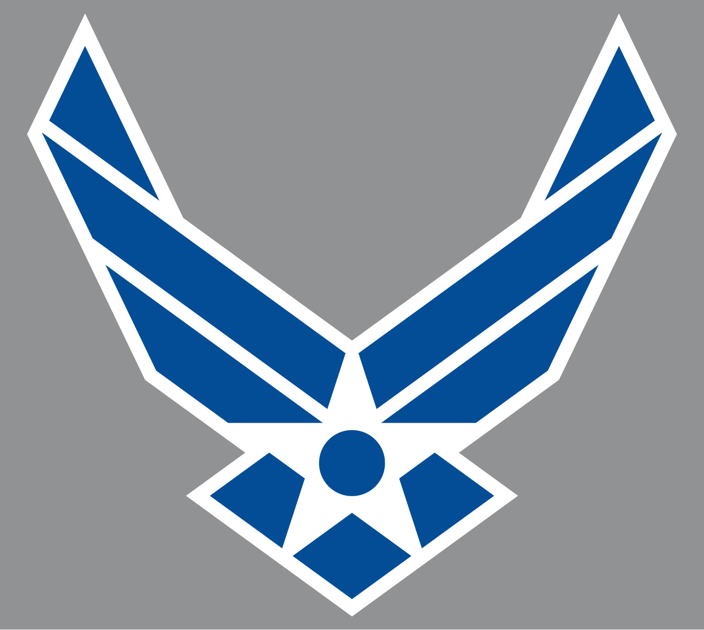 Art air force symbol blue with white outline on gray background the air force symbol buycottarizona Images