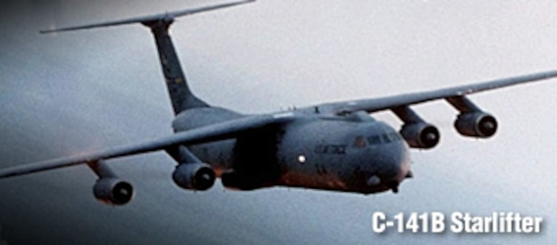 C-141B Starlifter history spotlight graphic, U.S. Air Force graphic