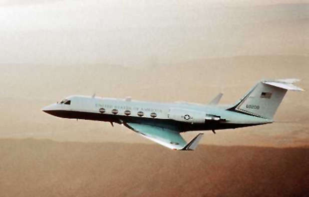 1980's -- The C-20A/B, military versions of the Gulfstream III, were chosen in June 1983 as the replacement aircraft for the C-140B Jetstar.  In 1992, Gulfstream delivered their latest model, the C-20H (Gulfstream IV) to Andrews AFB. (U.S. Air Force photo)