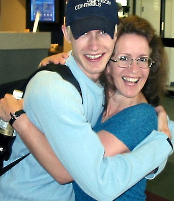 GULFPORT, Miss. -- Maj. Betsy Majma was recently reunited here with her son, Drew, 24 years after he was placed for adoption.  (Courtesy photo)