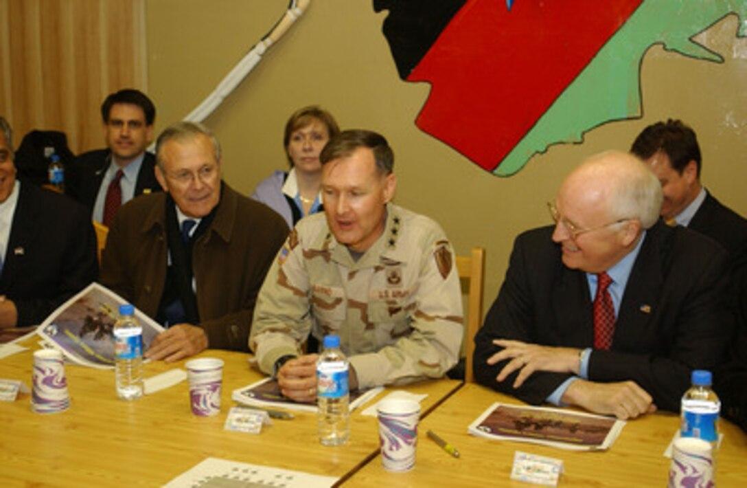 Secretary Rumsfeld, Lt  Gen  Barno and Vice President Cheney
