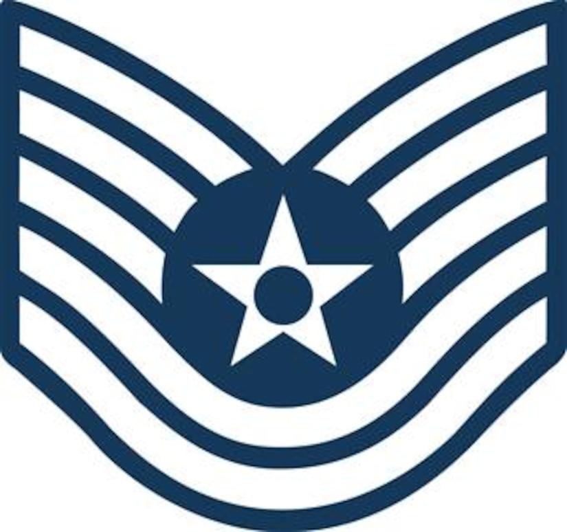 Tech. Sgt, E-6 (Blue color), U.S. Air Force graphic