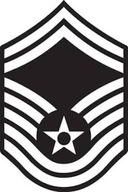 Senior Master Sergeant, E-8  (B&W color), U.S. Air Force graphic