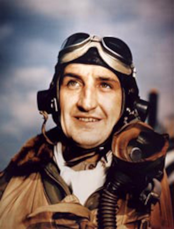 "Col. Francis ""Gabby"" Gabreski was the first Air Force fighter pilot to become an ace in both World War II and the Korean conflict. (U.S. Air Force photo)"