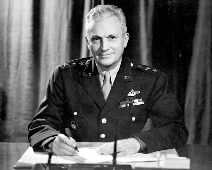 Gen. Frank M. Andrews, theater commander of U.S. forces in the European theater of operations, was responsible for direction of the American strategic bombing campaign against Germany and planning the land invasion of occupied western Europe in 1943.