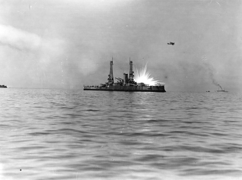 To prove the prowess of the air, Brig. Gen. Billy Mitchell used aircraft to bomb salvaged U.S. Navy ships during the 1920s.