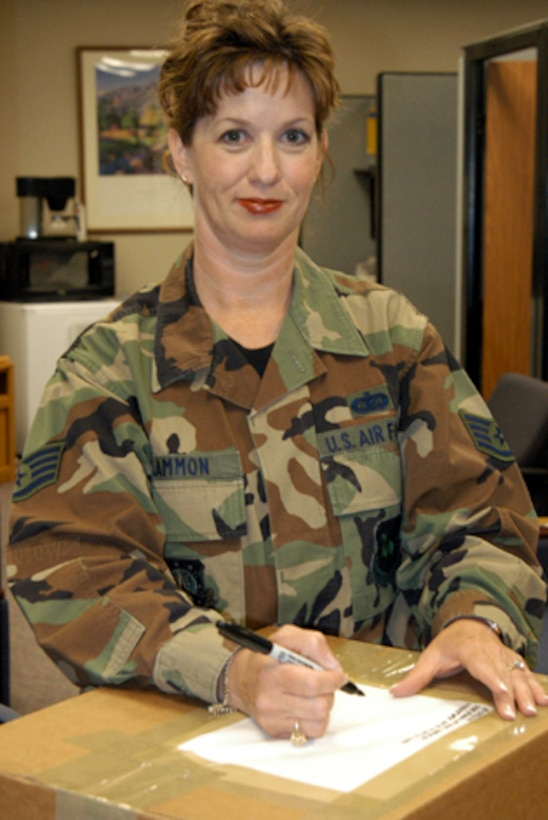 SCHRIEVER AIR FORCE BASE, Colo. -- Staff Sgt. Catherin Lammon has earned the 2004 American Legion Spirit of Service award for her continued role in the community as a volunteer.  She is assigned to the 50th Operations Group here.  (U.S. Air Force photo by Senior Airman Mike Meares)