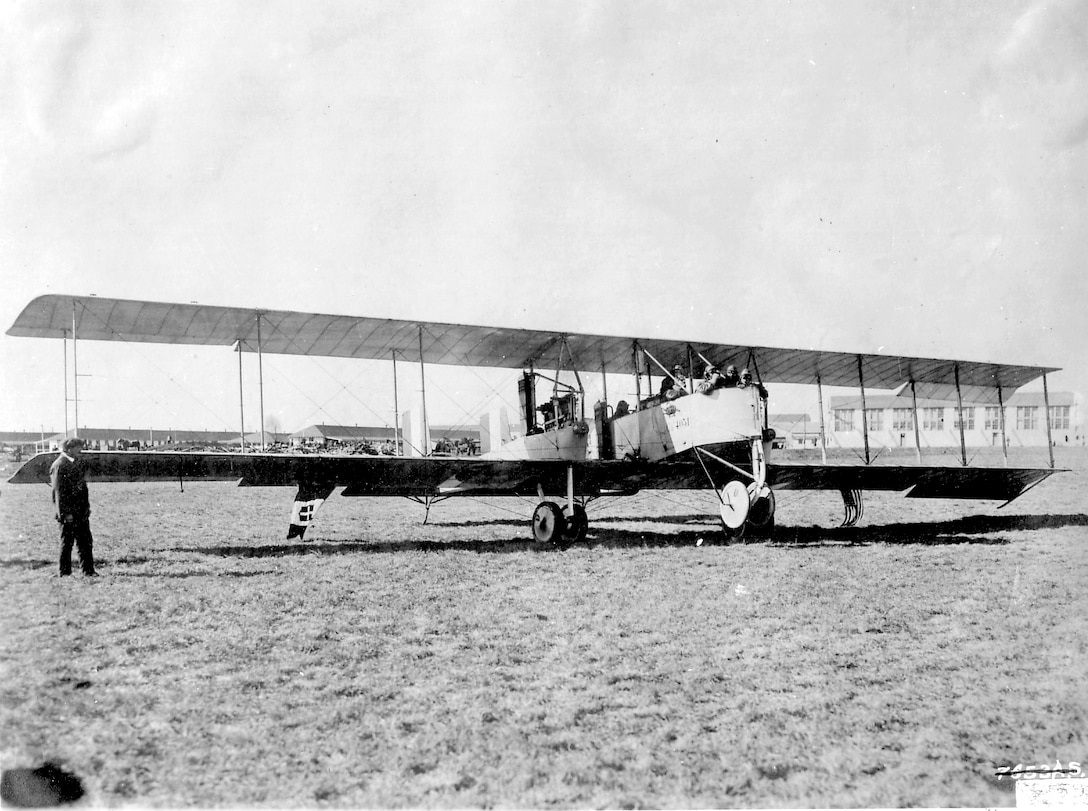 EARLY YEARS -- Caproni Ca.36 -designed bombers were produced during the 1917-1918 period, including a massive triplane, and a 600 HP enlargement of the Ca 33, but none of these realy exceeded  the combination of load, range, and reliability that were characteristic of the earlier aircraft. (U.S. Air Force photo)