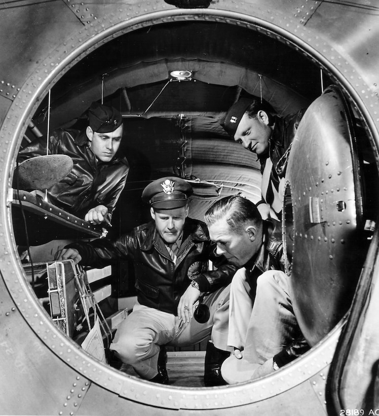 1940's -- Interior photo of the B-29 Superfortress bomber. June 1944 Shown is the rear pressurized cabin, equipped with four bunks to give crew members a chance for rest on a long mission.  This is an important factor in combating flight fatigue.  The B-29 was first reported in action on June 5, 1944, in an attack on railway yards at Bangkok, Siam, and on June 15 the first raid was made in Japan from bases in China. Following that date, attacks on the Japanese mainland were steadily stepped up, mainly from bases in the Marianas and in Guam, with forces up to 450 and 500 Superfortresses. (U.S. Air Force photo)