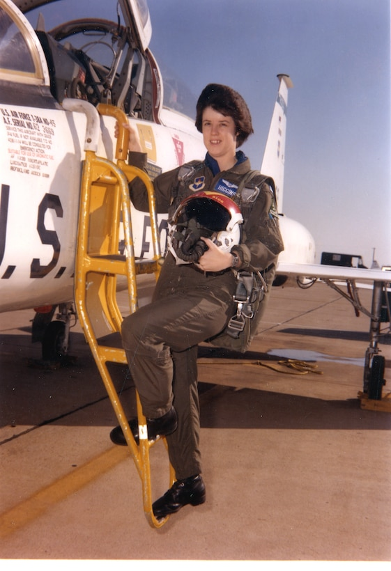 REESE AIR FORCE BASE, Texas (AFPN) -- As a captain in 1980, Mary Kay Higgins became one of the first women to earn both pilot and navigator ratings. Scheduled to retire June 1, Colonel Higgins is currently chief of the operations and plans division in the office of the Air Force Reserve at the Pentagon.  (Courtesy photo)