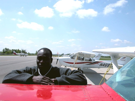 WARRENSBURG, Mo. -- As a child, Senior Airman Kamarudini Raimi dreamed of becoming a pilot while growing up in Accra, Republic of Ghana.  At 24, he moved to the United States to chase that dream.  (U.S. Air Force photo by Airman 1st Class Joe Lacdan)