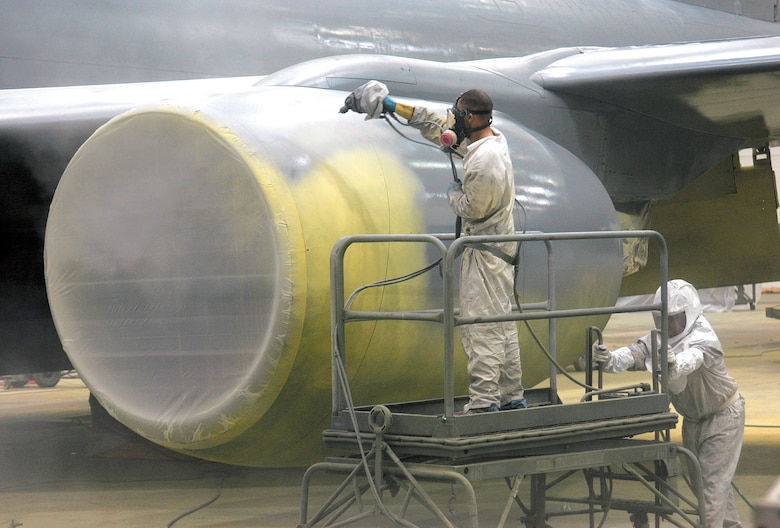aircraft paint booth, airplane paint booth