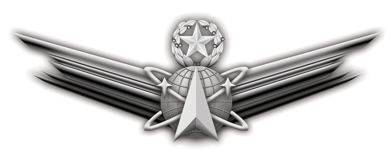 PETERSON AIR FORCE BASE, Colo. -- The master-level space badge, like other Air Force badges, will include a senior version with a star only and a basic version with no star or wreath.  The badge and qualification criteria are pending formal approval and will be announced at a later date.  (Courtesy graphic)
