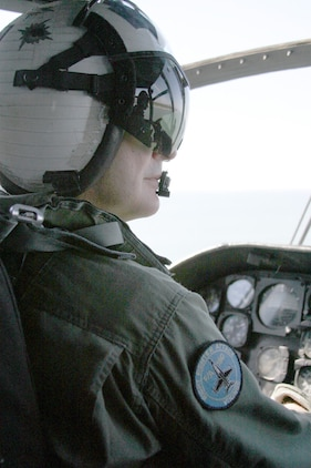 Col Stockwell, CO of MCAS Beaufort SC, pilots an HH-46D.  Aeriol photos taken with and of Search and Rescue (SAR) aboard Marine Corps Air Station Beaufort SC on April 11, 2005. (Official USMC photo by: Lance Corporal Edward Brown) (RELEASED)