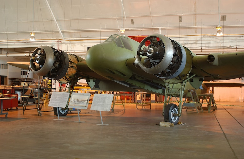DAYTON, Ohio (07/2005) -- The Bristol Beaufighter undergoing restoration at the National Museum of the United States Air Force. (U.S. Air Force photo)