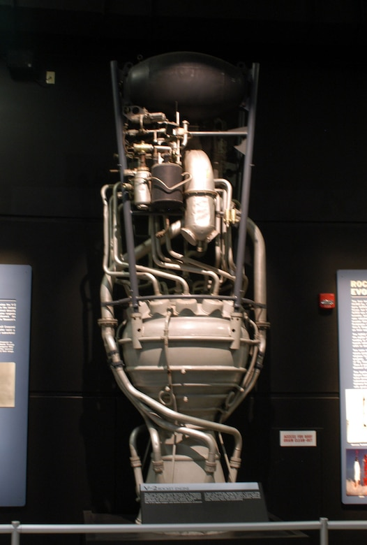 DAYTON, Ohio -- V-2 rocket engine at the National Museum of the United States Air Force. (U.S. Air Force photo)