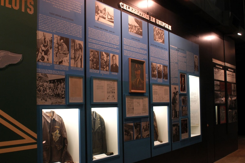 DAYTON, Ohio -- Celebrities in Uniform exhibit in the World War II Gallery at the National Museum of the United States Air Force. (U.S. Air Force photo)