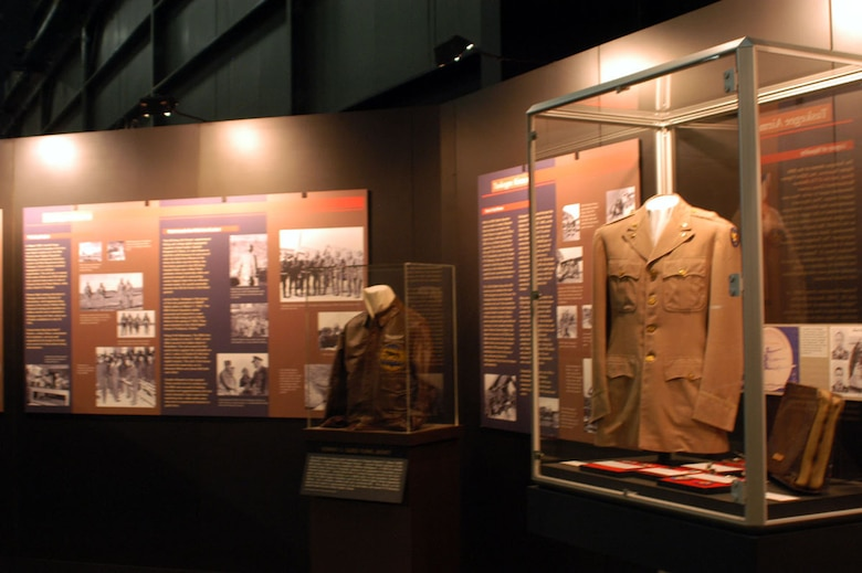 DAYTON, Ohio -- Tuskegee Airmen exhibit in the World War II Gallery at the National Museum of the United States Air Force. (U.S. Air Force photo)