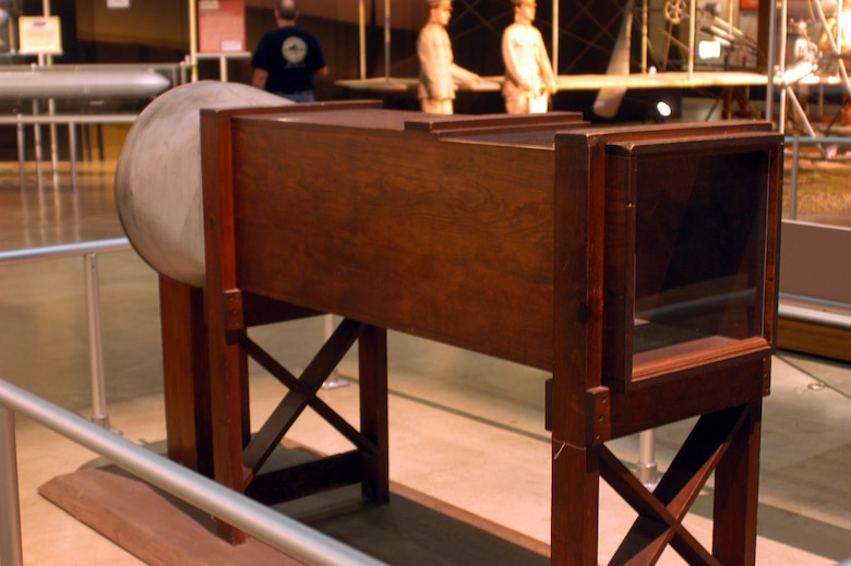 DAYTON, Ohio -- Wright Brothers 1901 Wind Tunnel on display in the Early Years Gallery at the National Museum of the United States Air Force. (U.S. Air Force photo)