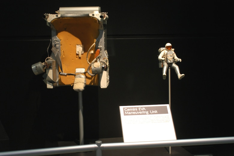 DAYTON, Ohio -- Gemini EVA Maneuvering Unit at the National Museum of the United States Air Force. (U.S. Air Force photo)