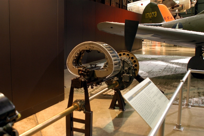 DAYTON, Ohio -- Drive train for P-39Q displayed in the World War II Gallery at the National Museum of the United States Air Force. (U.S. Air Force photo)