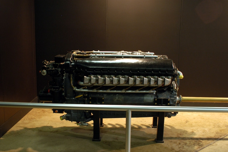 DAYTON, Ohio -- Allison V-1710-85 engine displayed in the World War II Gallery at the National Museum of the United States Air Force. (U.S. Air Force photo)