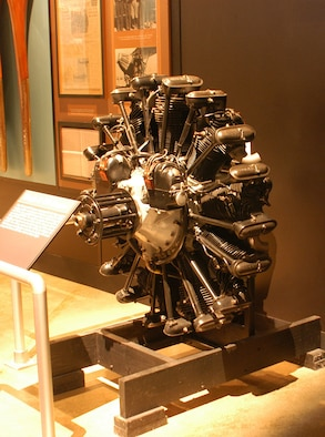 DAYTON, Ohio -- Wright R-790 engine on display in the Early Years Gallery at the National Museum of the United States Air Force. (U.S. Air Force photo)
