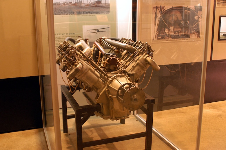 DAYTON, Ohio -- Sturtevant 5A engine on display in the Early Years Gallery at the National Museum of the United States Air Force. (U.S. Air Force photo)
