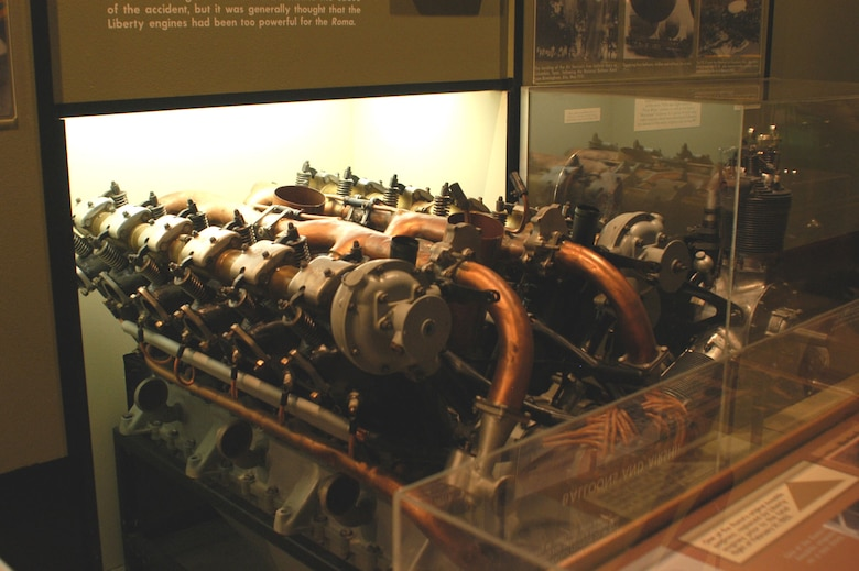 DAYTON, Ohio -- Ansaldo engine on display in the Early Years Gallery at the National Museum of the United States Air Force. (U.S. Air Force photo)