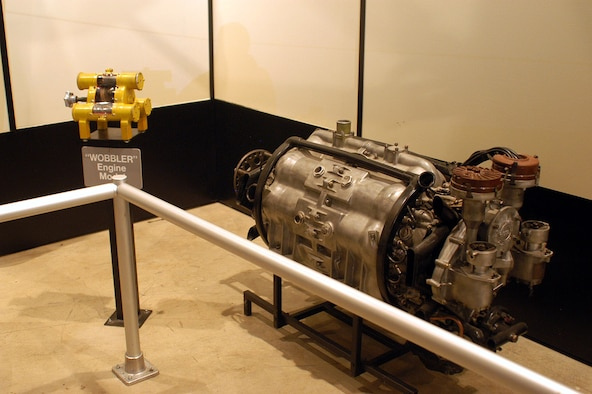 DAYTON, Ohio -- Almen A-4 Barrell engine at the National Museum of the United States Air Force. (U.S. Air Force photo)