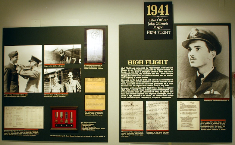 "DAYTON, Ohio -- ""High Flight"" exhibit at the National Museum of the United States Air Force. (U.S. Air Force photo)"