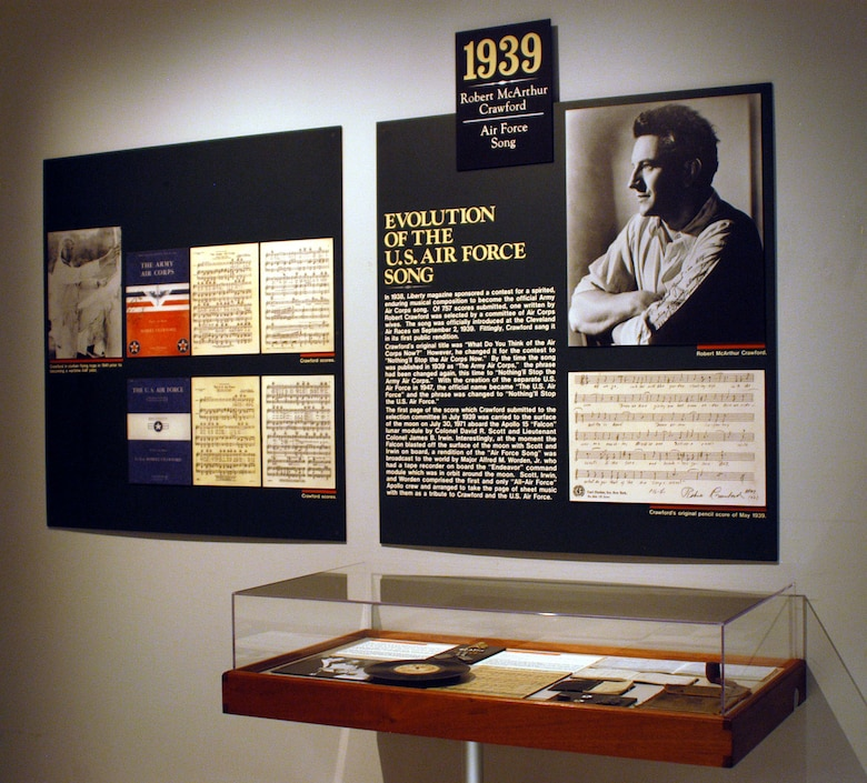 DAYTON, Ohio -- Evolution of the U.S. Air Force Song exhibit at the National Museum of the United States Air Force. (U.S. Air Force photo)