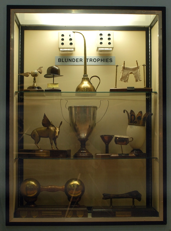 DAYTON, Ohio -- Blunder Trophies exhibit at the National Museum of the United States Air Force. (U.S. Air Force photo)